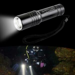LED Waterproof Diving Flashlight Torch 60000LM Zoomable For Outdoor AL3