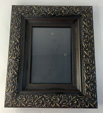 Oak Hill Vintage Lot HH Embossed Holds 5 x 7 Picture Gray Pewter Colored Metal Frame