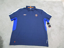 NEW Ralph Lauren Polo Sport Dri Fit Shirt Adult Large Blue Orange Rugby Mens