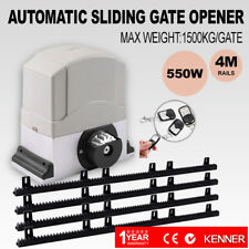 KENNER Sliding Electric Gate Opener 1500KG Automatic Motor Remote Kit Heavy Duty