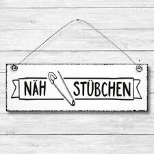 Deko Tür Wand Schild Holz Shabby Chic NÄHSTÜBCHEN Geschenk Landhaus Vintage