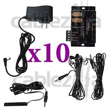 LOT x10 Hidden IR Remote Control Repeater Extender Infrared Emitter receiver Kit