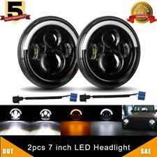 "7""Inch LED Headlight Halo Round HI/LO Sealed Beam for Chevy Pickup Truck 3100"
