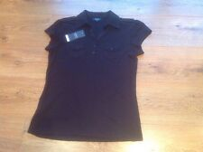 Ladies Black Papaya T-Shirt with Breast Pockets Size 12 (New With Tags)