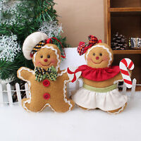 Christmas Cute Push Gingerbread Doll Toys Party Home Holiday Decor Tool Supplies