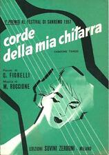 Corde della mia chitarra - Canzone / Tango - Spartito musicale del 1957