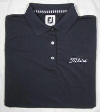 FOOTJOY TITLEIST ~ Polyester Blend Polo Golf Shirt ~ Woman's Large - Navy Blue