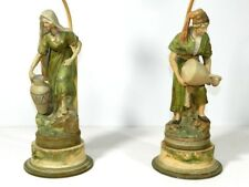 Antique Figural Lamp Pair