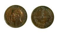 s644_77) Vittorio Emanuele II Re d'Italia (1861-1878) 5 Centesimi 1867 N