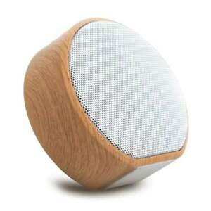 Wooden Portable Wireless mini Speaker, USB Charging, bluetooth connection, FM