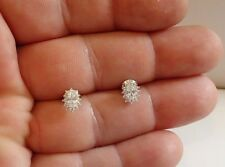 OVAL BURST STUD EARRINGS W/ 1.30 CT LAB DIAMONDS/ 925 STERLING SILVER