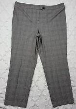 Lane Bryant Womens Black & White Pants Checkered Dress Trouser Plus Size 26