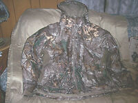 Mens XL Cold Weather Jacket Insulated Hunting Jacket Realtree Camo Waterproof