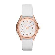 DKNY NY8808 Imperio Tono Oro Rosa Correa De Cuero Reloj de Señoras -- 2 Años De Garantía