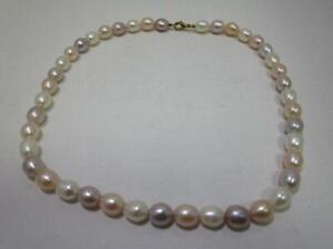 Traumhaftschöne Halskette mit Barockperlen aus Perlmutt  AS4005