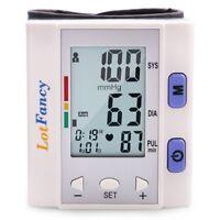 Automatic Digital Wrist Blood Pressure Monitor BP Cuff Heart Rate Detector FDA
