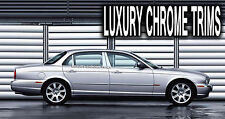 Jaguar XJ XJ8 XJ8L Stainless Chrome Pillar Posts by Luxury Trims 2004-2009 (6pc)