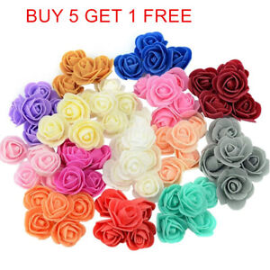 Wholesale 500Pcs 3cm Artificial Flower Foam Roses Craft Party Decoration DIY