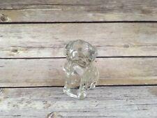 Vintage Glass Paperweight Hollow Dog Handsome Figurine