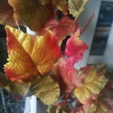 Blättergirlande Herbstdeko 1m Weinlaub Landhaus Dekoration Herbstblätter Zweig