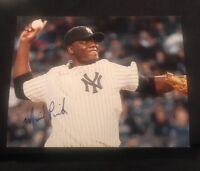 MICHAEL PINEDA SIGNED 8X10 PHOTO NEW YORK YANKEES W/COA+PROOF RARE WOW