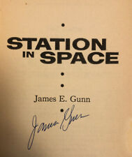 SIGNED by JAMES GUNN - Gunn STATION IN SPACE - 1st ed. (1958) RARE SF COLLECTION