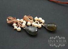Echtschmuck-Ohrschmuck im Hänger-Stil aus Sterlingsilber mit Tropfen und Butterfly-Verschluss