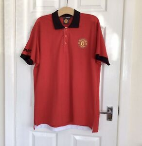 MANCHESTER UNITED MAN UTD OFFICIAL RED POLO SHIRT T-SHIRT - SIZE XXL