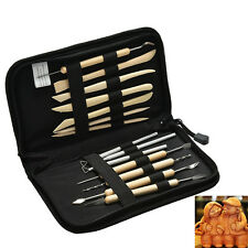 14Pcs DIY Wood Carving Whittling Hand Chisel & Gouge Working Tool Craft Set New