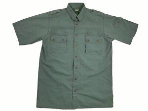 Cabelas Outdoor Gear Mens Large Tall Safari Faded Green Button Shirt LT (C5)