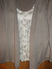 M&SWoman Cardigan Blouse in one, Beige and Dark Beige Size 12