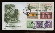 SPECIAL SALE US First Day COMBO Cover (WWI Veterans) 1985 Milwaukee, Wisconsin