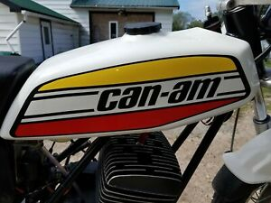 VINTAGE CAN-AM TnT MX1 MX2 73 74 75 76-125 175 250 GAS TANK DECALS FREESHIPUSCA