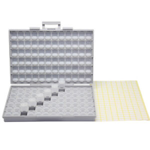 BOX-ALL enclosures 144 space w/ lids labels SMD SMT resistor Organizer 0805 0603