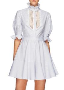 Lover Abbey Trim blue & white stripped dress - NWT (RRP $495) - 10