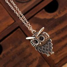 Women Girl Vintage Cute Owl Pendant Neclace Long Sweater Chain Necklace Jewelry