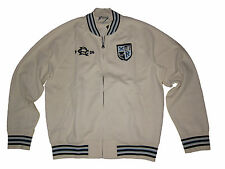 Rugby Ralph Lauren White Polo Stadium Jacket Fleece Baseball Varsity Coat XXL