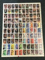 1992-93 Hoops Card Michael Jordan Chicago Bulls Team Factory Uncut Sheet Rare!