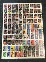 1992-93 Hoops Card Michael Jordan Chicago Bulls Team Factory Uncut Sheet Rare!