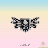Elite Force Skull Movie Embroidered Iron On Sew On Patch Badge For Clothes etc