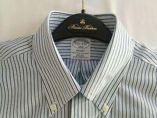NWT! 1818 Regent Brooks Brothers Mens Blue Stripe L/S Shirt 15.5 34/35  $79