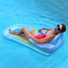 """""""Brand New"""" Intex King Kool Lounge Pool Float Cup Holder Rainbow Inflatable Raft"""
