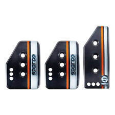 Sparco Settanta Car Pedal Set - 3 Pedal - Normal Height Accelerator - Black