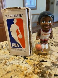 (VTG) 1969 new York knicks lil dribbler basketball bobble head nodder doll & box