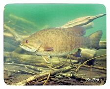 Realfish Inland Series Small-Mouth Bass Fish Tempered Glass Cutting Boards 12x15