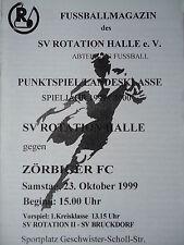 Programm 1999/00 SV Rotation Halle - Zörbiger FC