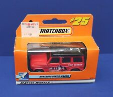 Matchbox #25 Mercedes Benz G Wagon Mission Satellite in Window Box MIB 1999