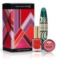 NEW Maxfactor gift set- Black mascara, cream blush and nail varnish BNIB RRP £28