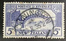 NEW ZEALAND 1935 GV 'STRIPED MARLIN' 5d ultramarine, SG563 used