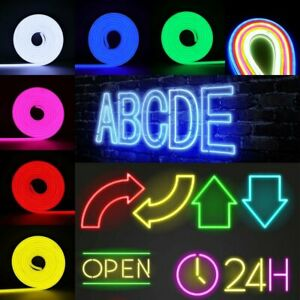 DC 12V Neon LED Rope Flexible Light Tube Waterproof Strip Boat Bar Sign Decor